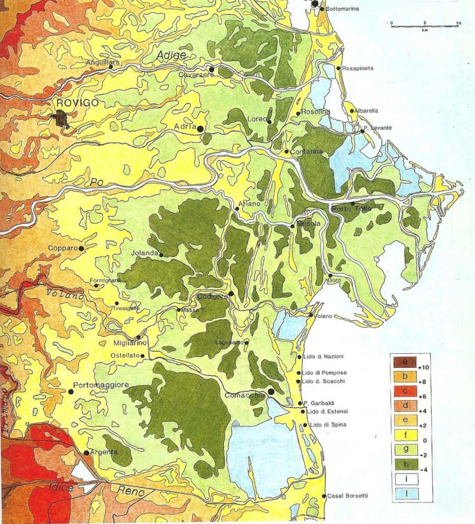 Cartina Altimetrica Italia