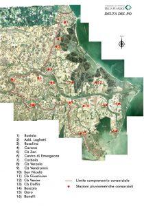 Consorzio di Bonifica Delta del Po planimetria-posizione-pluviometri-210x300 Pluviometri